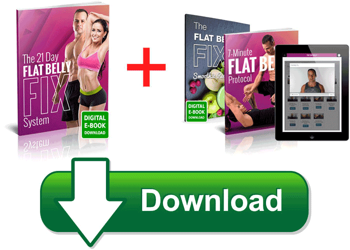21 day Flat Belly Fix regime is one that focuses on arming you with all the information and resources you need to get to a happy place with your weight